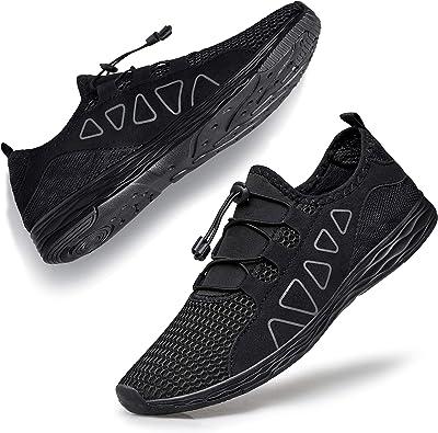 Amazon.com | vibdiv Women's Water Shoes Quick-Drying - Aqua Shoes Outdoor  for Walking Swimming Work Lightweight Beach Sneakers | Water Shoes