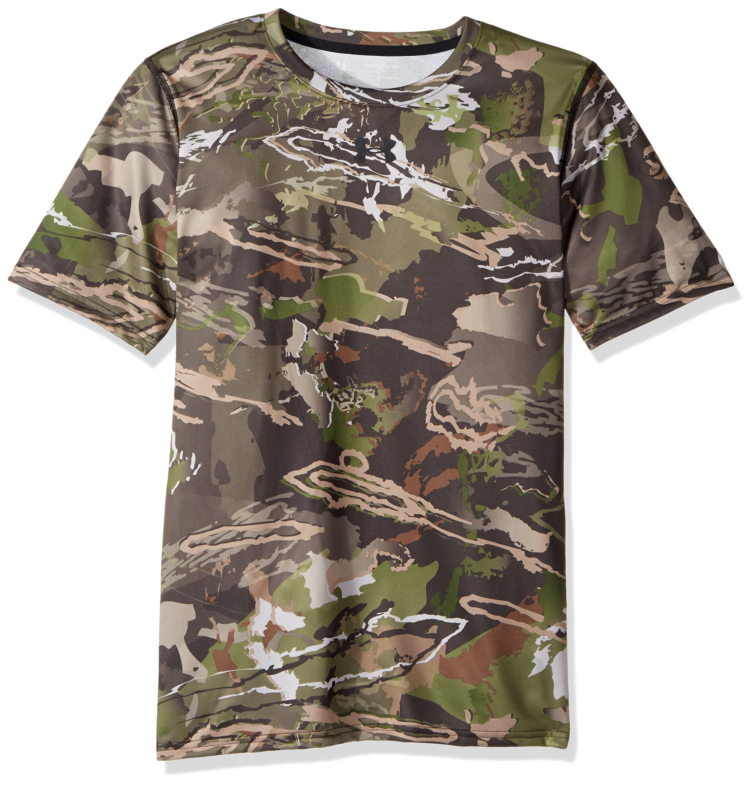 Under Armour Boys Scent Control Tech Short Sleeve Top,Ridge Reaper Camo Fo /Black, Youth X-Small by Under Armour
