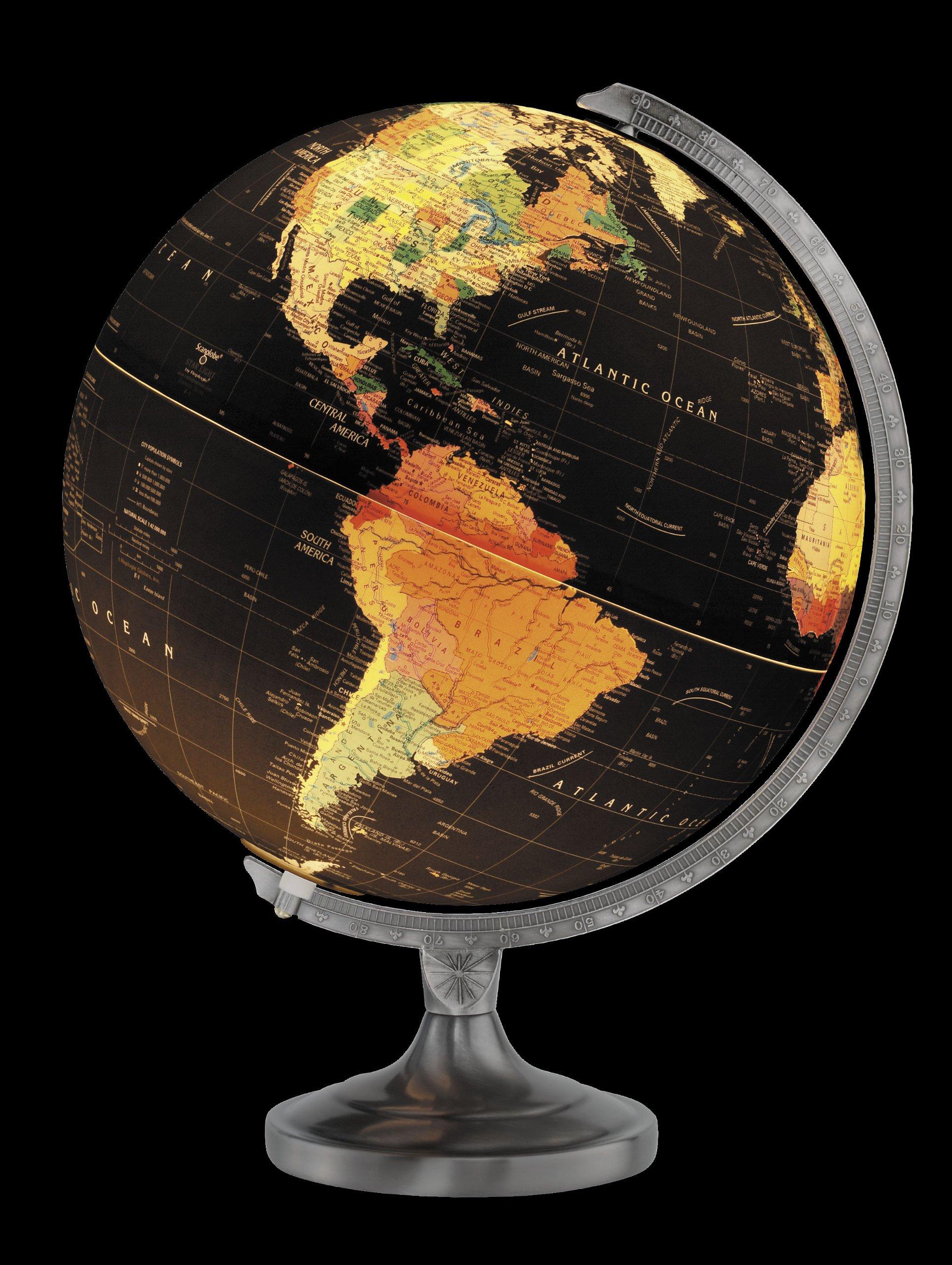 Replogle Globes Orion Globe, 12-Inch, Black Illume