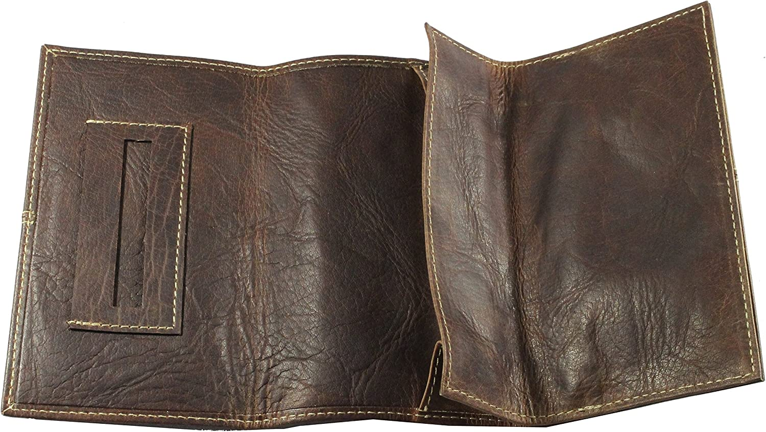 Wallet Buffalo Travel Pouch Saddle and Gold Bison Leather Pouch Tobacco Pouch Rolling Case