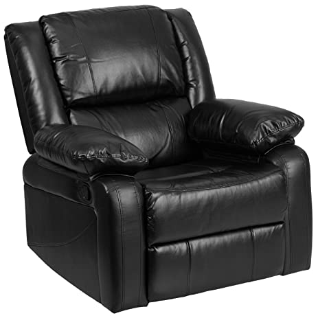 Flash Furniture Harmony Series Black Leather Recliner  sc 1 st  Amazon.com & Amazon.com: Flash Furniture Harmony Series Black Leather Recliner ... islam-shia.org