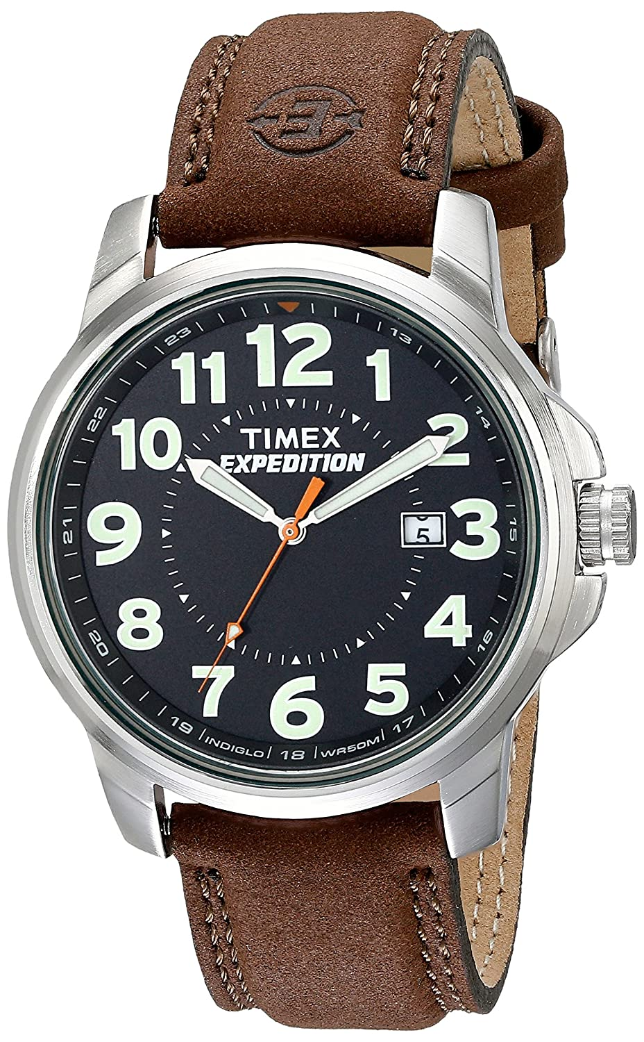 317903906 Amazon.com: Timex T44921 Men's Expedition Metal Field Brown Leather Strap  Watch: Timex: Watches