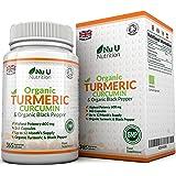 Nu U Nutrition  Organic Turmeric Curcumin 600mg, 365 Capsules