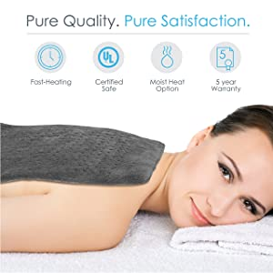 Pure Relief King Size Heating Pad