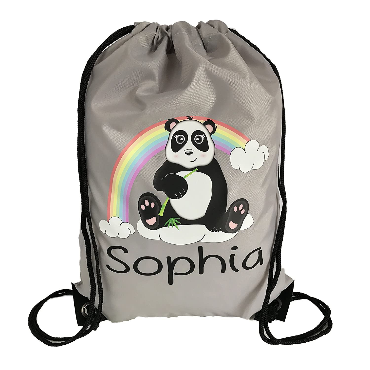 SWIMMING BAG DANCE PE GREAT KIDS GIFT /& NAMED TOO PERSONALISED PANDA GYM