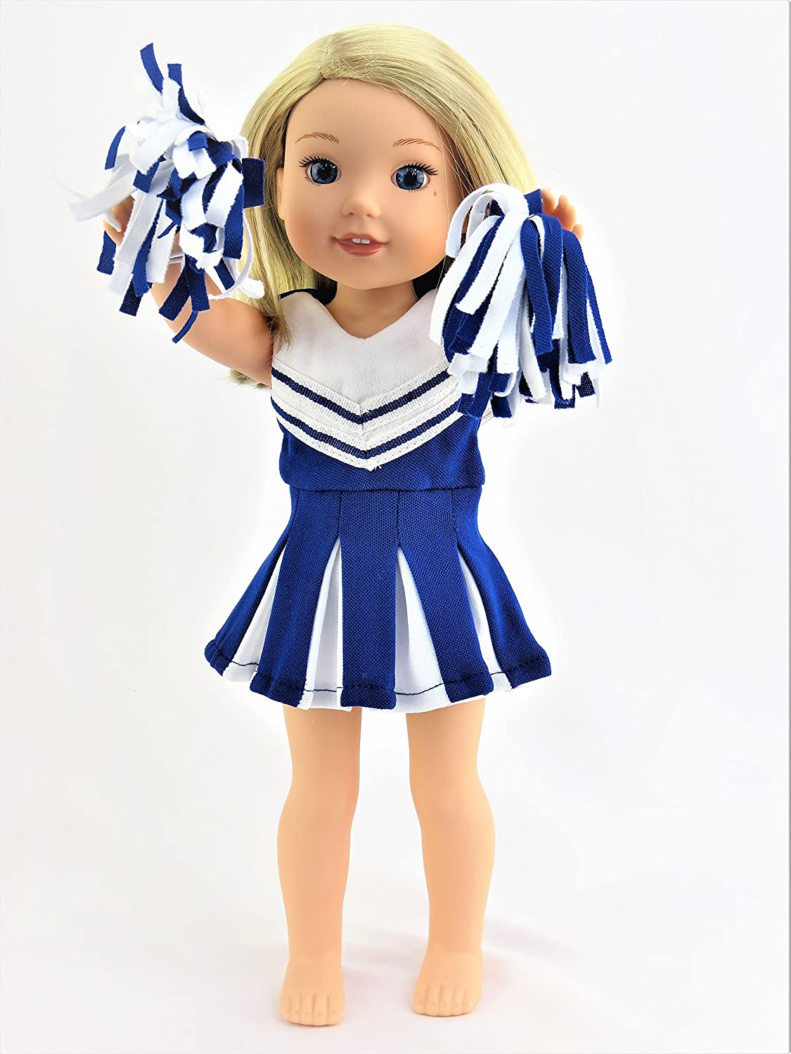 393c3ad2e Blue Cheerleader for 14-inch Dolls - Fits 14 inch Dolls such as the Wellie  Wishers