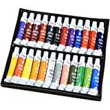 Artlicious - 24 Tube Acrylic Paint Set - Great for Canvas Panels, Boards & Stretched Canvas