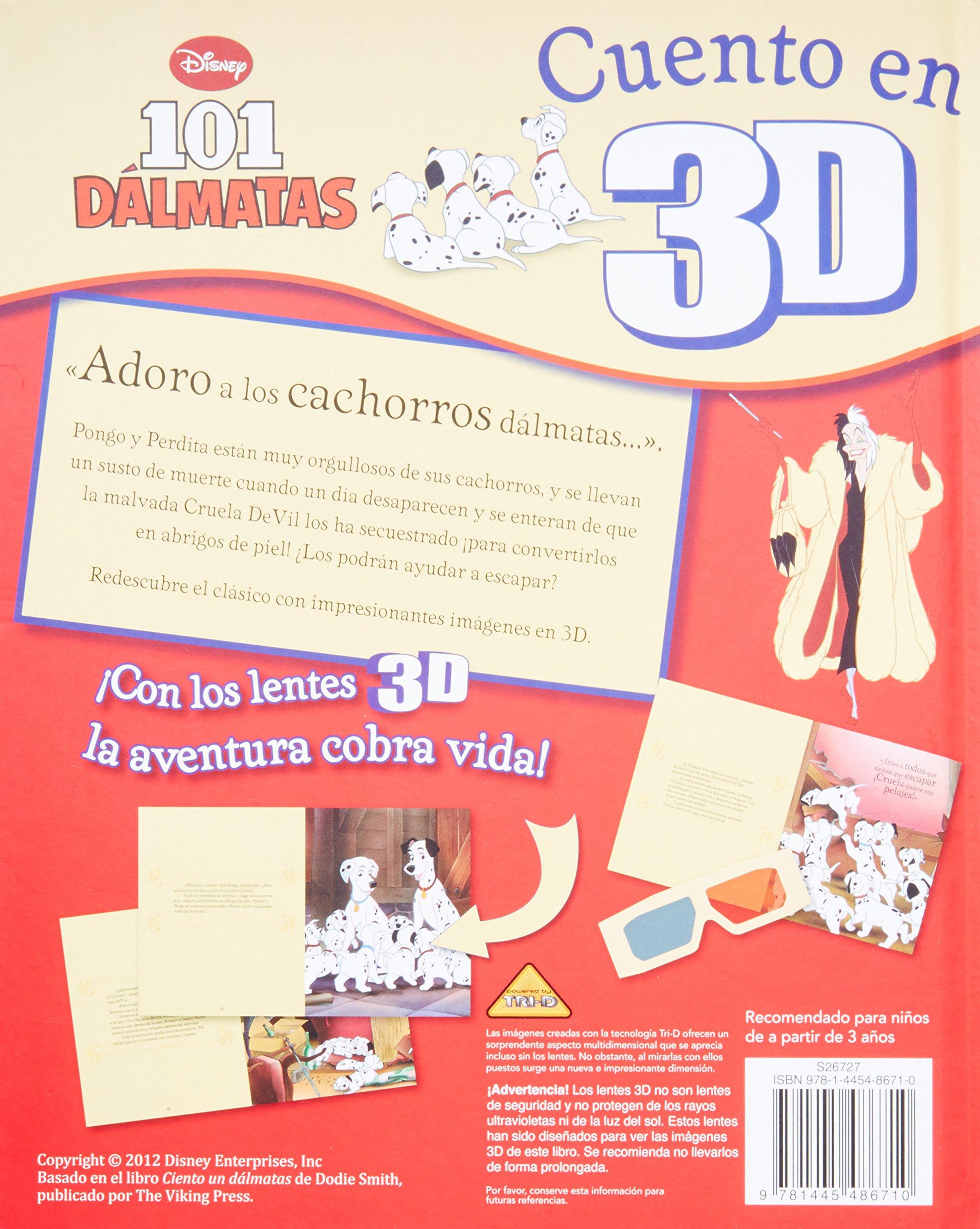 Disney 3D Cuento: 101 Dalmatians (Spanish Edition): Parragon Books: 9781445486710: Amazon.com: Books