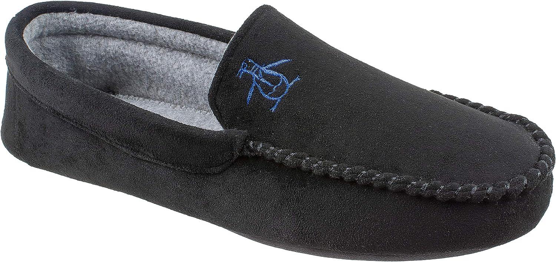 Amazon.com | Original Penguin Mens Slippers, Microsuede Venetian Moccasin  Slipper, Men's Size 8 to 13 | Slippers