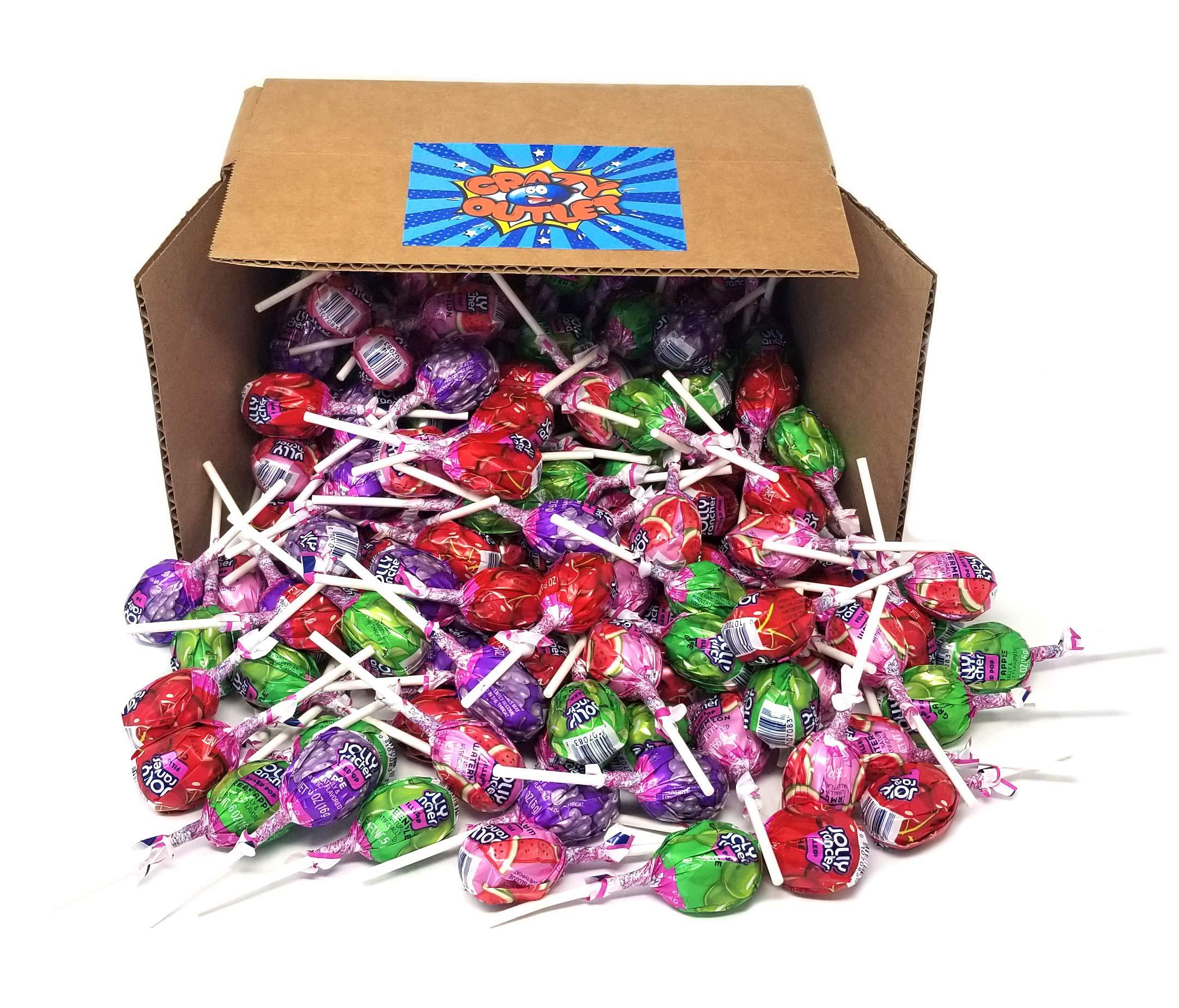 Jolly Rancher Lollipops Original Flavors, Fruit Chew Center, Hard Candy Bulk Pack, 4 lbs by HERSHEY'S