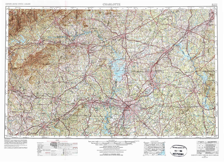 Amazoncom Yellowmaps Charlotte Nc Topo Map 1250000 Scale 1 X 2 - Us-map-charlotte-nc