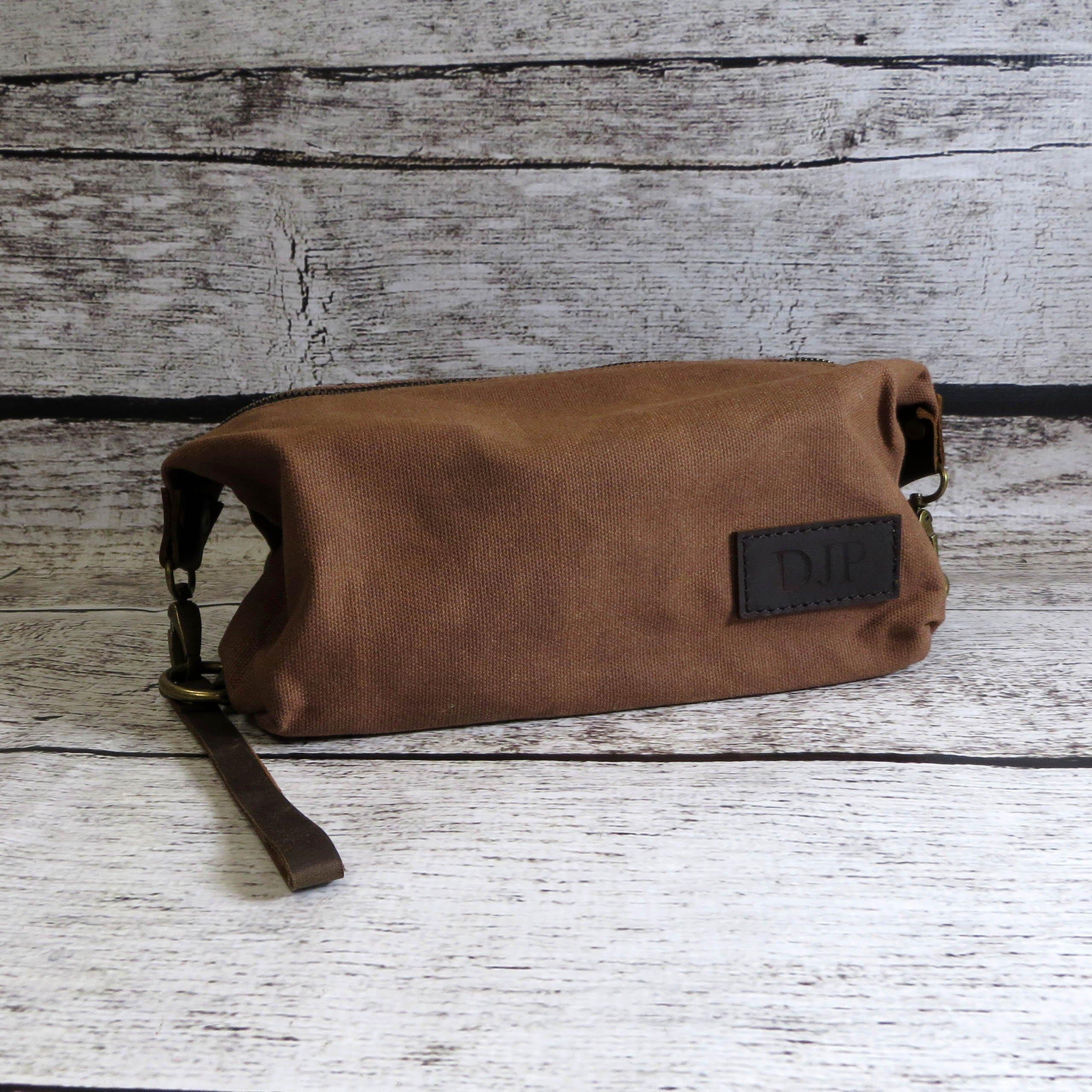 Custom Personalized Mens Dopp Travel Bag