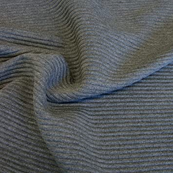 Baumwoll-Stoff in weiß Längs u querelastisch als Meterware für Jacke Hose Rock