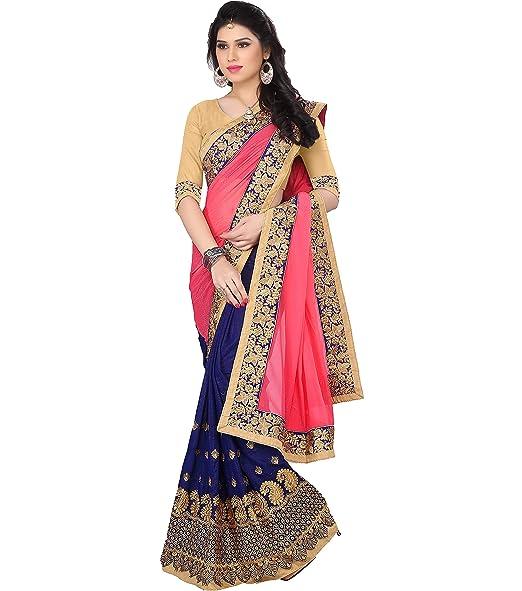 9b2672f60 Saree For Women Party Wear Half Sarees Offer Designer Below 500 Rupees  Latest Design Under 300 Combo Art Silk ...