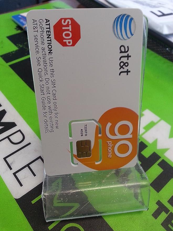 Amazon.com: At & t tarjeta SIM de prepago ATT Go teléfono ...