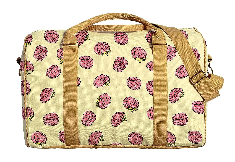 Brain Pattern Printed Canvas Duffle Luggage Travel Bag WAS/_42