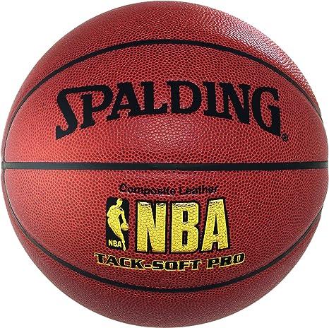 Spalding NBA Tacksoft Pro - Balón de baloncesto talla 7, con logo ...