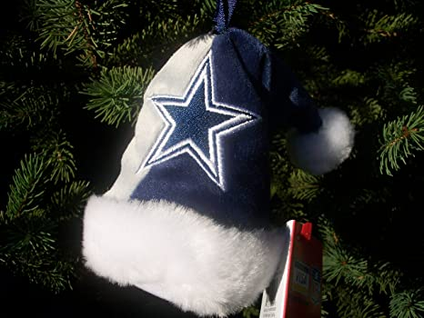 dallas cowboys 4 mini santa hat christmas tree ornament