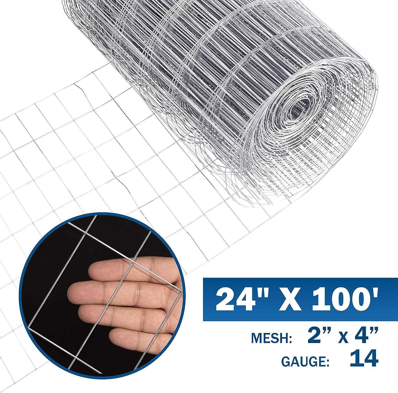 Fence Welded Wire 100-Ft PVC-Coated 14-Gauge Galvanized Zinc-Coated Steel Black