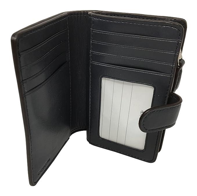 bc69b758877ae Coach Signature PVC Medium Corner Zip Wallet Light Chalk Midnight F23553 at  Amazon Women s Clothing store