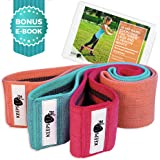 Hip Resistance Circle Band Set - Get a Peach Booty and Toned Legs Without Gym! Non-Rolling Thick Loops for Thigh Exercise & Butt-Kicking Workout! Take Them Anywhere & Build Your Glute Strength Easily