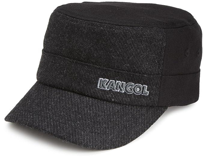 5253ec168f9 Kangol Mens Textured Wool Army Cap Hat  Amazon.ca  Clothing ...