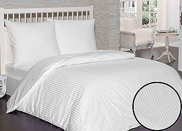 Damast Mako Satin Bettwäsche Set   Bettdeckenbezug 200x200 Cm, Mit 2  Kopfkissenbezüge