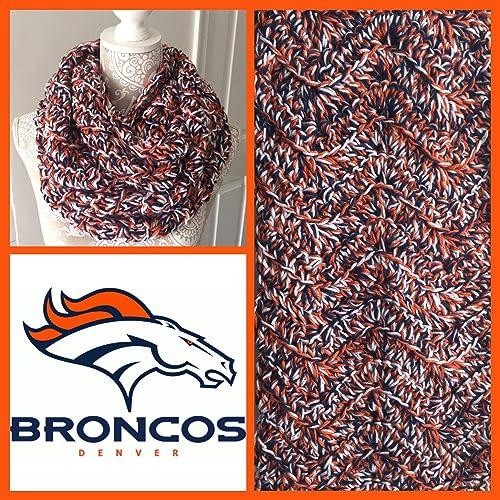 2c629b0a Amazon.com: Denver Broncos Themed Infinity Scarf: Handmade