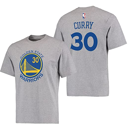 new concept 8dcc6 75f13 Stephen Curry Golden State Warriors #30 Adidas Gray Name And Number Kids T  Shirt