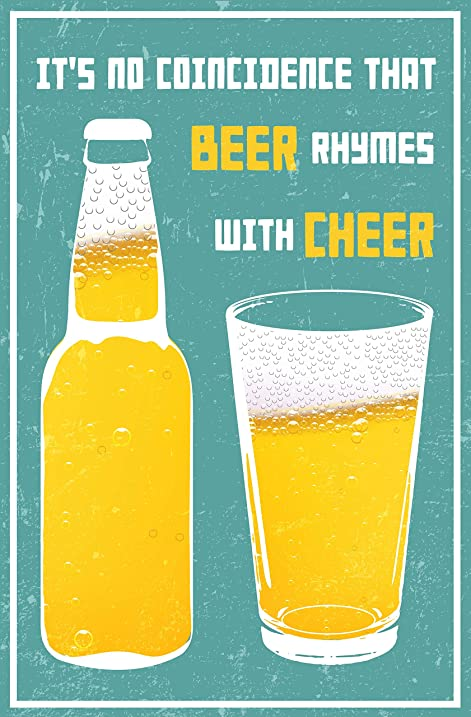 Amazon.com: It\'s No Coincidence That Beer Rhymes with Cheer - Hip ...