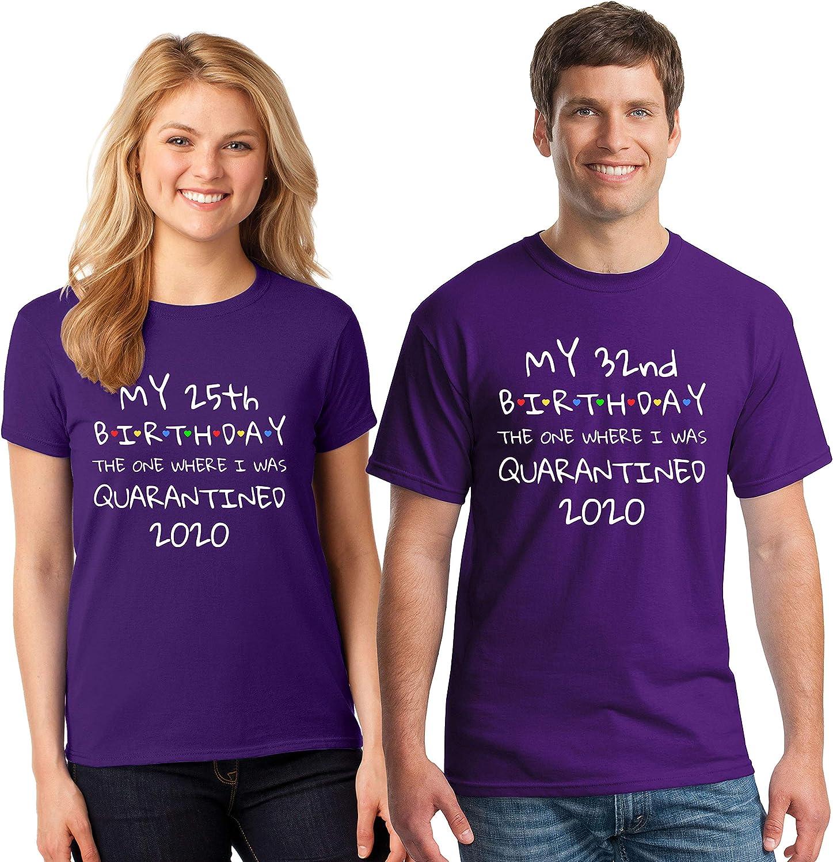 Birthday Quarantined Custom Age 2020 Covid Corona Kids Adult T-shirts NEW