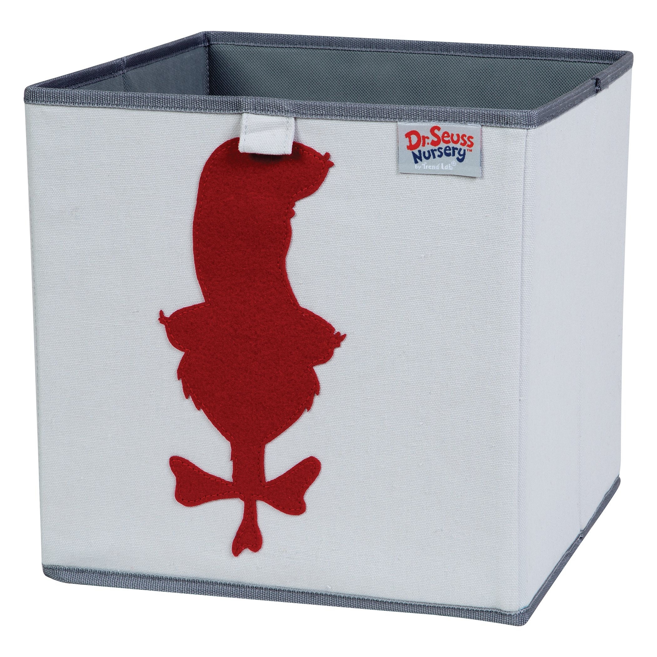 Trend Lab Dr. Seuss Cat in The Hat Storage Bin, Gray/Red