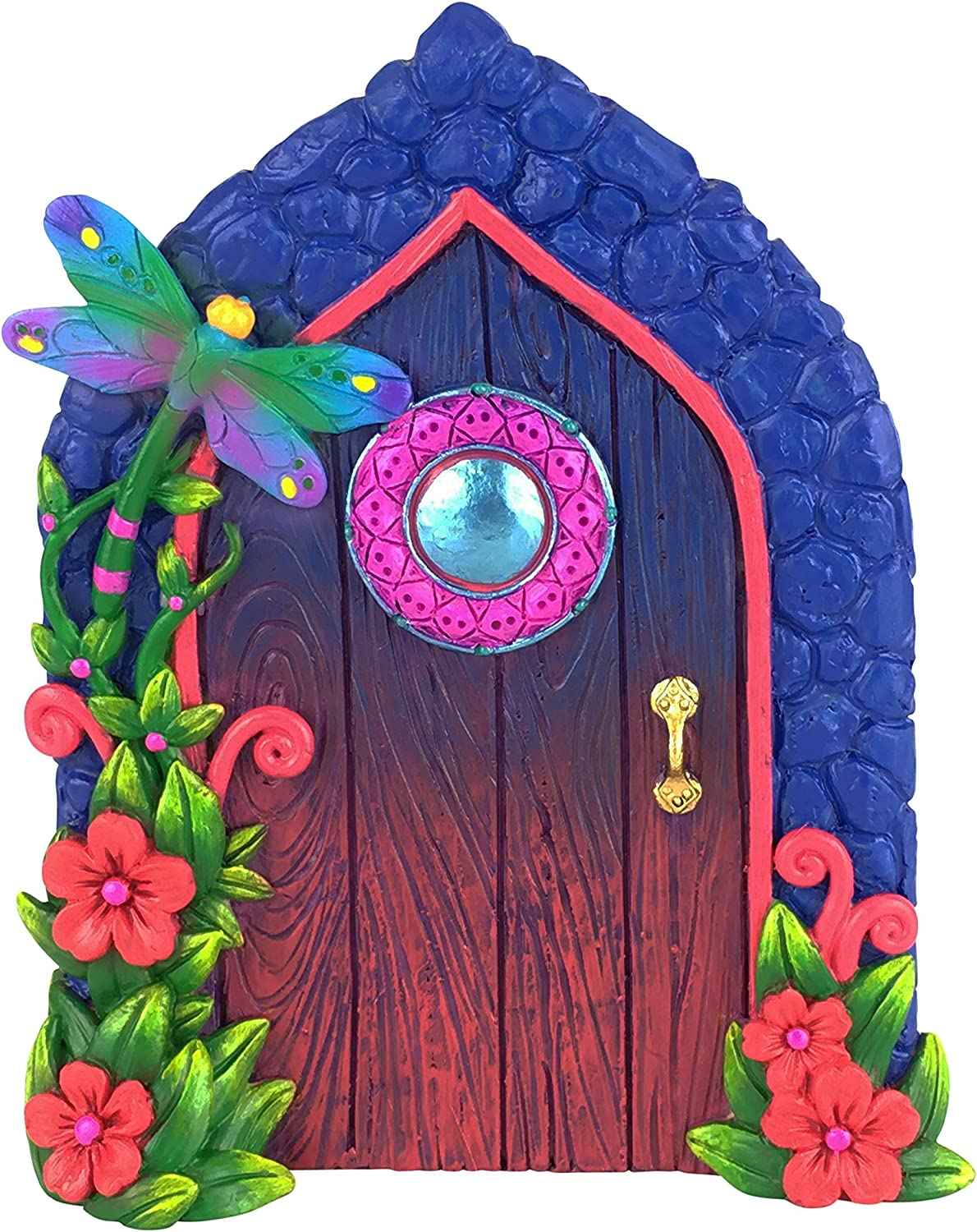 GlitZGlam Miniature Dragonfly Fairy Door for The Enchanted Garden Fairies and Gnomes. A Fairy and Gnome Garden Accessory