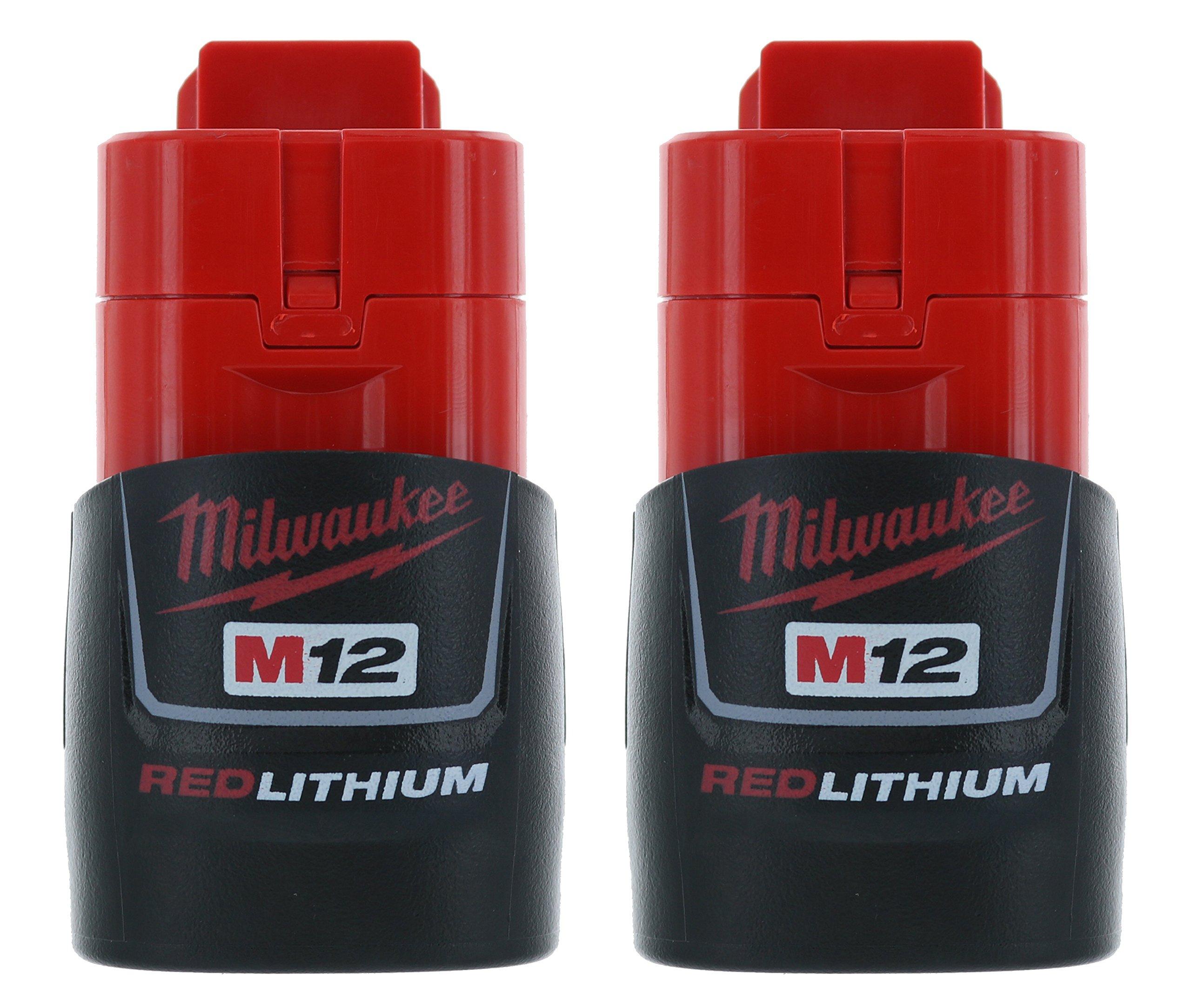 Milwaukee (2-pack) 48-11-2401 M12 RED Li-Ion Battery Packs by Milwaukee