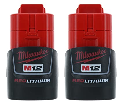 milwaukee 2 pack 48 11 2401 m12 red li ion battery packs