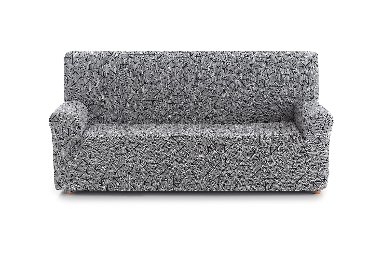 Blindecor Segrelles - Funda de sofá elástica 1 Plaza de 70 a 100 cm, Color Gris
