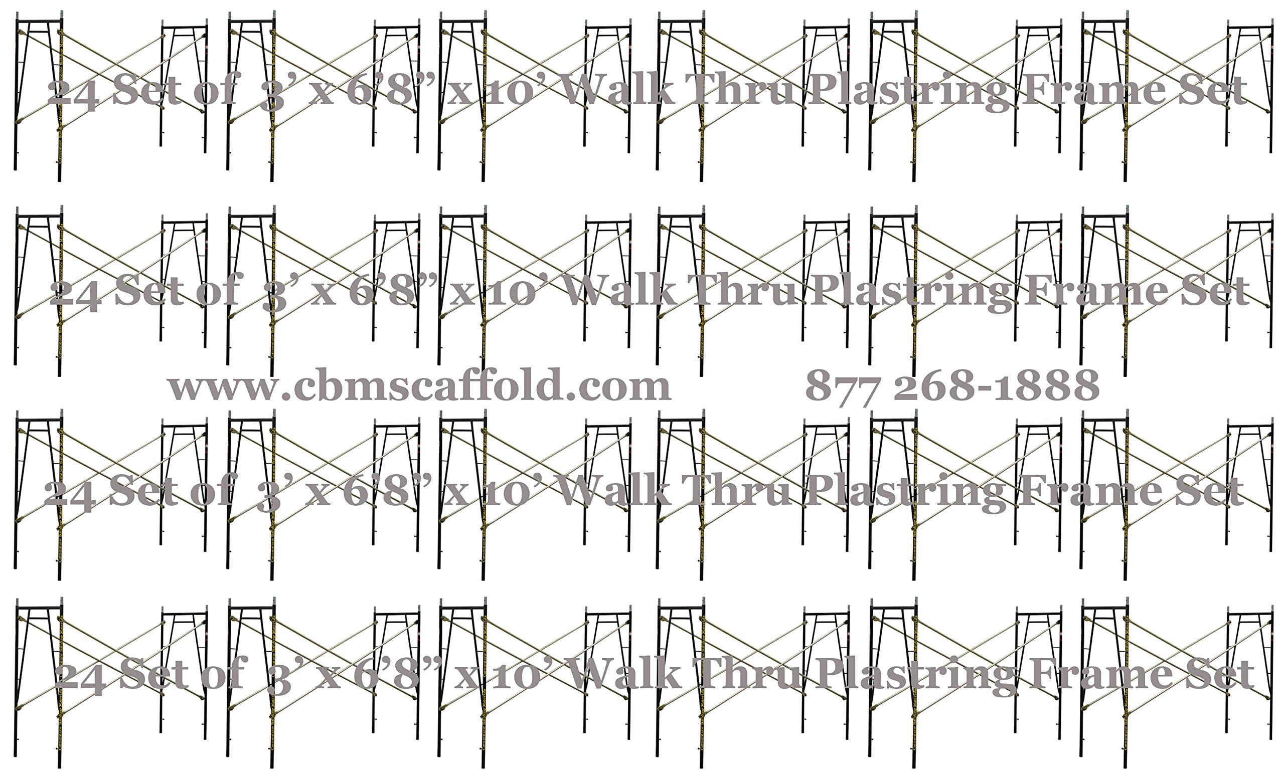24 Set of 3' x 6'8'' x 10' Scaffolding frames for Plastering masonry work CBMscaffold. com