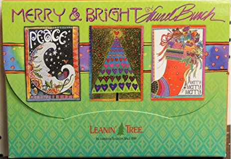 amazon com leanin tree merry and bright by laurel burch 20 cards