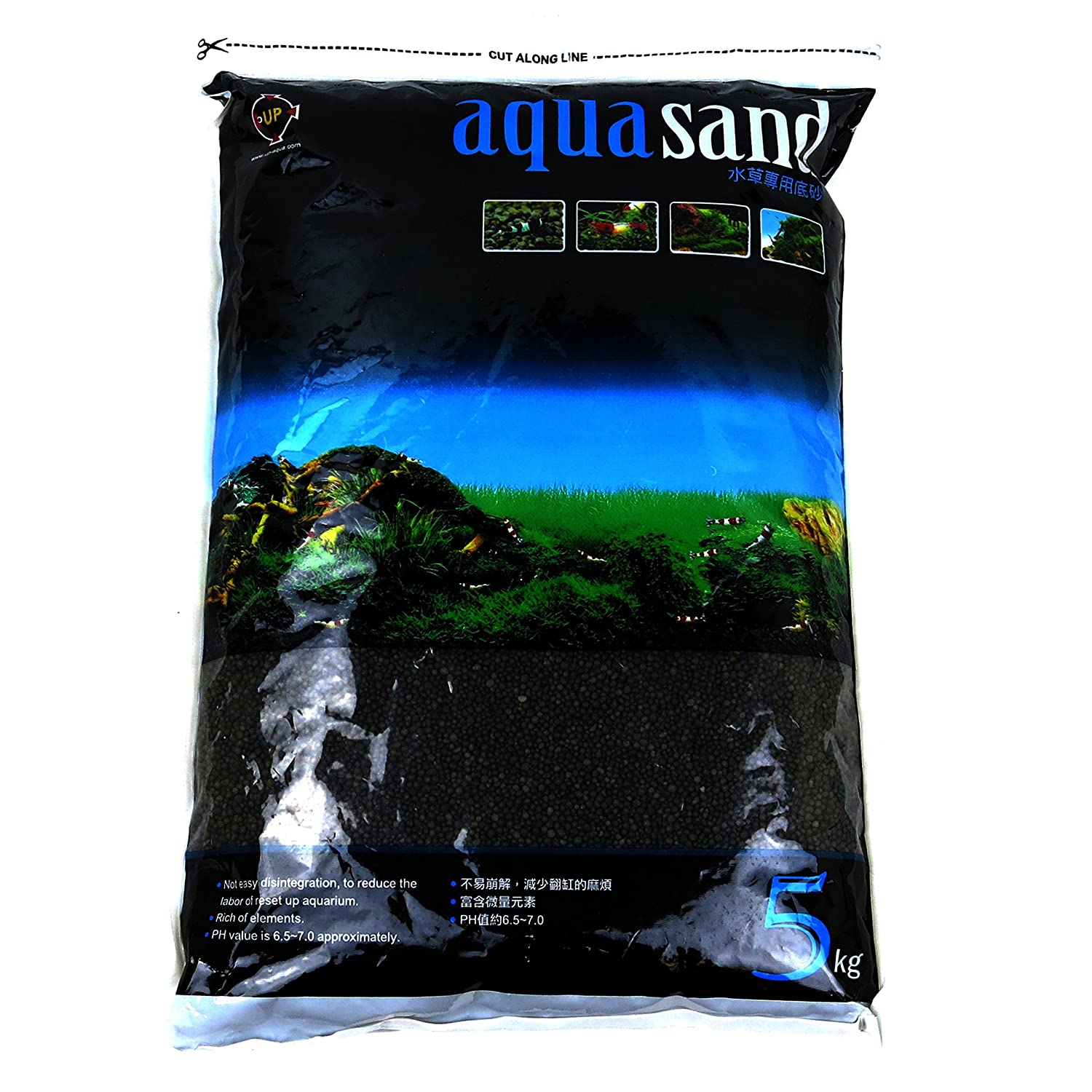 Dark sand for Aquatic Plants
