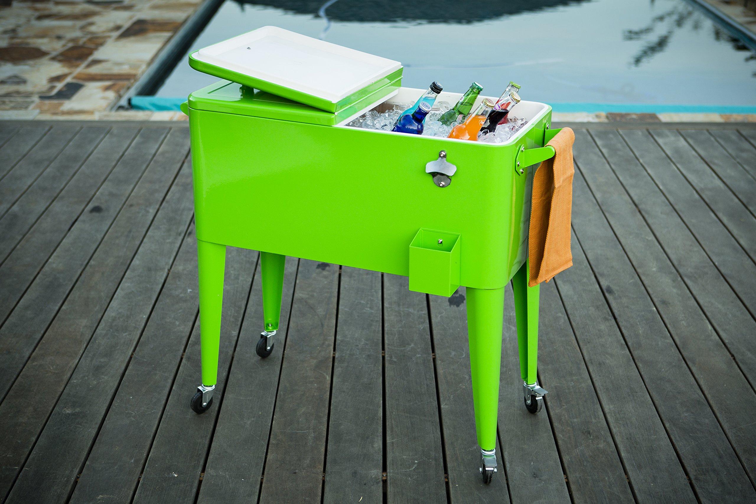 Permasteel 80 Quart Portable Picnic Cooler in Lime by Permasteel (Image #2)