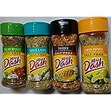 Mrs. Dash Seasoning Blends Variety Flavor 4 Pack, Italian Medley 2.0oz, Garlic & Herb 2.5oz, Chicken Grilling 2.4oz  Lemon Pepper 2.5 oz