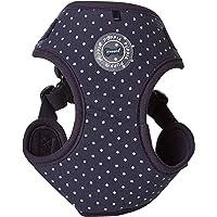 Puppia PARA-HC1529-NY-L Navy Dotty Harness II C Pet-Vest-Harnesses, Large