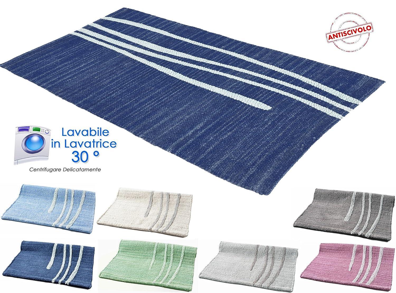 Alfombra de algod/ón lavable para ba/ño o cocina Varios colores disponibles 50/x 80/// 60/x 120 antideslizante Lavable en lavadora a 30//°