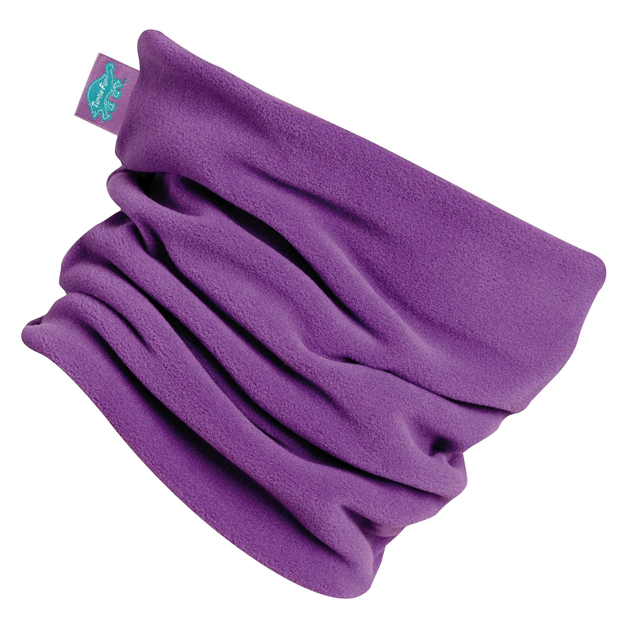 Turtle Fur Double-Layer Micro Fur Performance Fleece Neck Warmer In The Purple