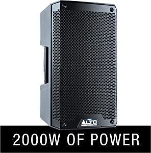 Alto Professional TS308 | 2000-Watt 8-Inch 2-Way Powered Loudspeaker with On-board Contour Controls, Performance-Driven Inputs / Outputs, Pole or Wedge Positioning and Integrated 2-Channel Mixer