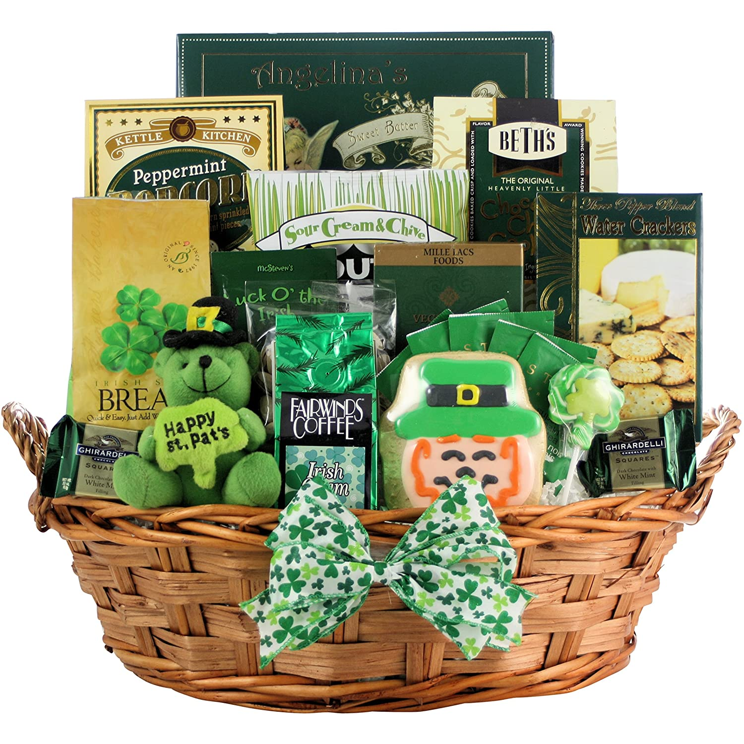 Luck O' The Irish Large: St. Patrick's Day Gourmet Gift Basket