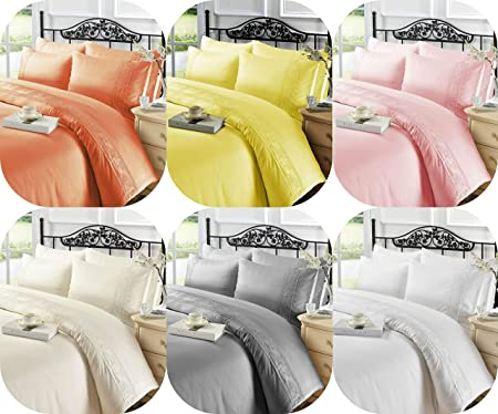 Charlotte Lace Duvet Cover Sets in Polyester Single Double King Super king