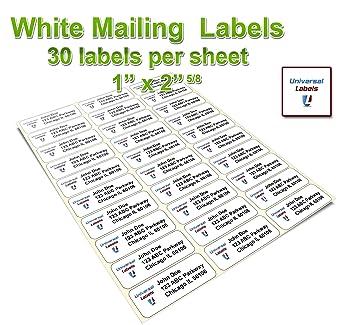 Amazon.com : Universal Labels 30 up Address Labels - Laser ...