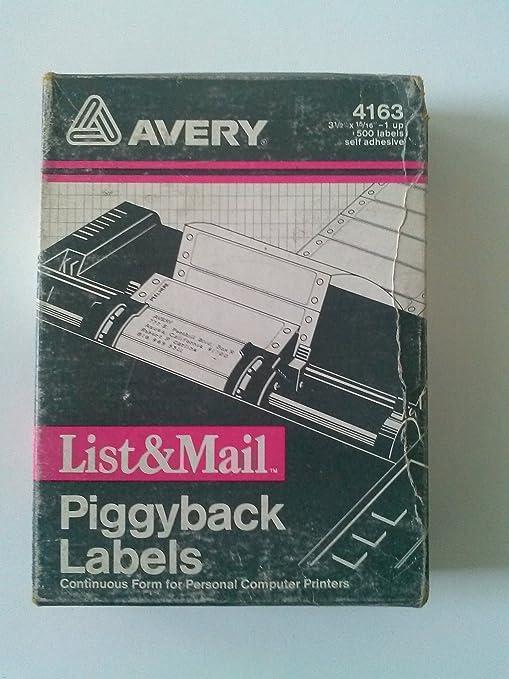 Amazon.com: Avery 4163 Piggyback Labels 3 1/2