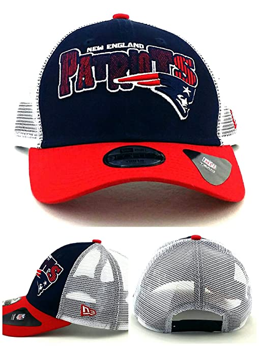 fa6aa89cb56ca ... order new era new england patriots 9forty kids youth blue red mesh  snapback hat cap 0d526 canada nfl ...